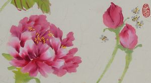 Peony with Bees