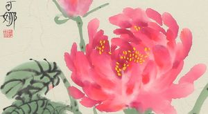 Portrait of a Peony - SOLD