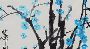 Blue Cherry Blossoms