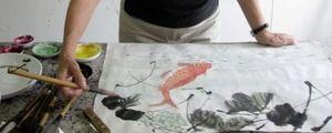 Tekla painting koi